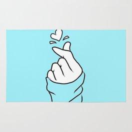Cute Finger Love Rug
