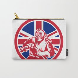 British Sandblaster Union Jack Flag Carry-All Pouch