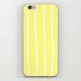 Butter Vertical Brush Strokes iPhone Skin