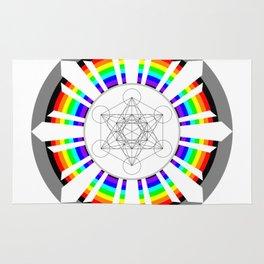 Metatron's Cube in Dharmachakra Rug