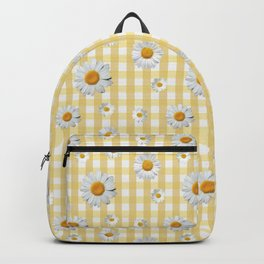 Spring Bloom | Yellow Plaid Backpack