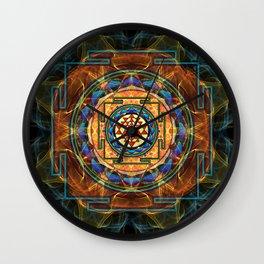 The Sri Yantra - Sacred Geometry Wall Clock