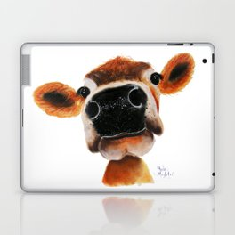 Nosey Cow ' JERSEY JOY ' by Shirley MacArthur Laptop & iPad Skin