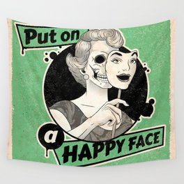 Put On A Happy Face Wall Tapestry