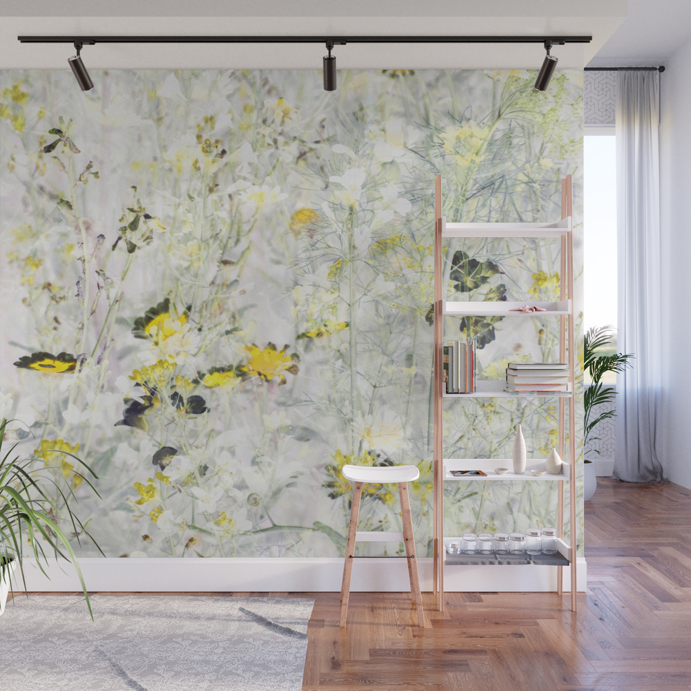 Wild Flowers Viii Wall Mural by Amini54 WMP8331835