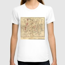 Vintage Map of Yellowstone National Park (1881) T-shirt