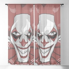 Clown Wicked Common Came creepy horror gift Sheer Curtain