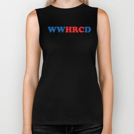 What Would Hillary Do (Red & Blue) Biker Tank
