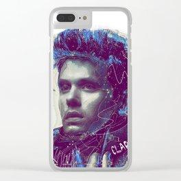 John Mayer Portrait Clear iPhone Case