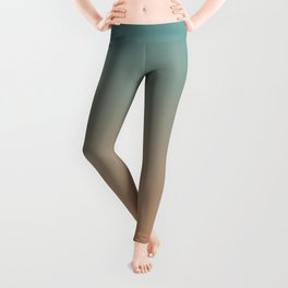 Cadet Blue and Antique Brass Ombre Leggings