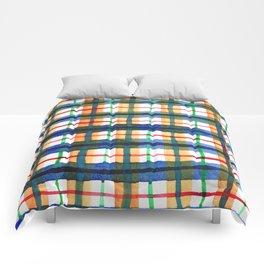 Retro Watercolor Plaid Comforters