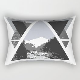 Landscape in Triangles Rectangular Pillow