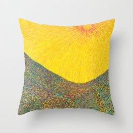 Here Comes the Sun - Van Gogh impressionist abstract Throw Pillow