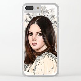 Lana Del Rey/Hedy Lamarr Clear iPhone Case