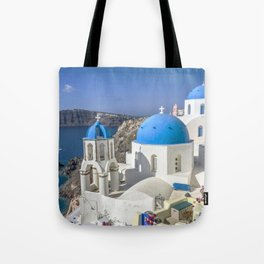 Santorini, Oia Village, Greece Tote Bag