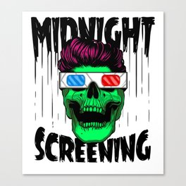 Midnight screening Canvas Print
