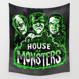 House of Monsters Phantom Frankenstein Dracula classic horror Wall Tapestry
