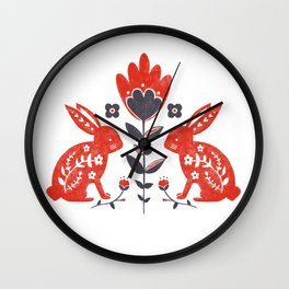 Forest Folk Wall Clock