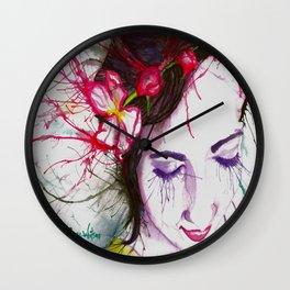 Apple Blossoms Wall Clock