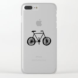 Bicycle Pattern Clear iPhone Case
