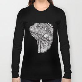 Iguana - Hand Drawn Long Sleeve T-shirt