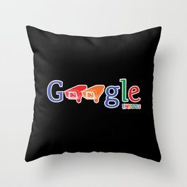 Swoozle - Who Watches Over You? Throw Pillow