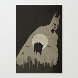 Arkham City Poster Canvas Print
