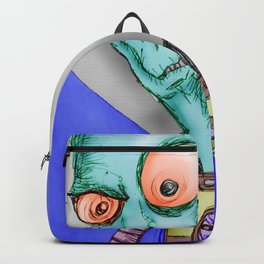 Pulpy pop retro Space Alien Backpack