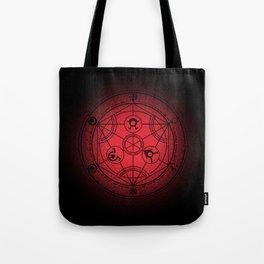 transmutation halftone circle Tote Bag