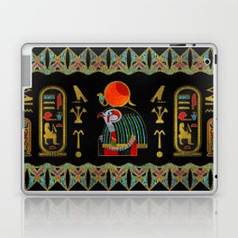 Egyptian Horus Ornament in colored glass and gold Laptop & iPad Skin
