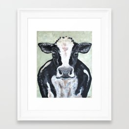 Holstein Cow Framed Art Print