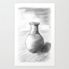 Pot Sketch Art Print