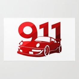Porsche 911 - classic red - Rug