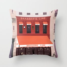 Brasserie lipp Throw Pillow