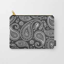 Elegant Hand Drawn Paisley Pattern Carry-All Pouch