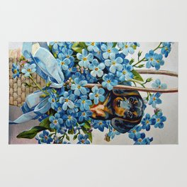 Dachshund and Forget-Me-Nots Rug