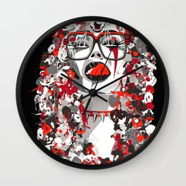 Wolfgirl Wall Clock