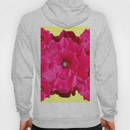 YELLOW FUCHSIA-PINK  DOUBLE  HOLLYHOCK FLOWERS GARDEN Hoody
