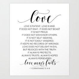 Love art art prints society6 definition of love love is patient love is kindlove quotelove art stopboris Gallery