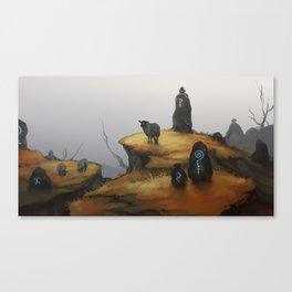 Ruins - orange Canvas Print