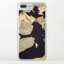 """Henri de Toulouse-Lautrec """"Divan Japonais"""" Clear iPhone Case"""