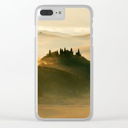 Sunrise in Val D'Orcia Clear iPhone Case