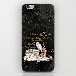 Our Choices - Golden Dust iPhone Skin