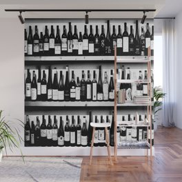 Wine Bottles in Black And White #society6 #decor Wall Mural
