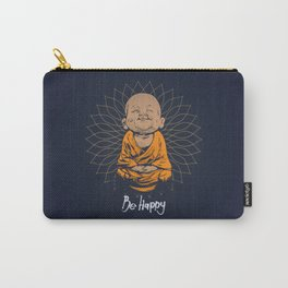 Be Happy Little Buddha Carry-All Pouch