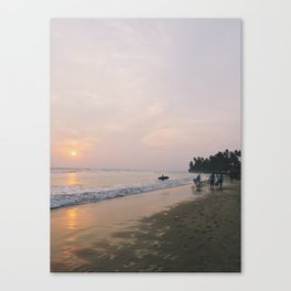 Sunset Surf on Kabalana Beach, Ahangama, Sri Lanka 2 Canvas Print