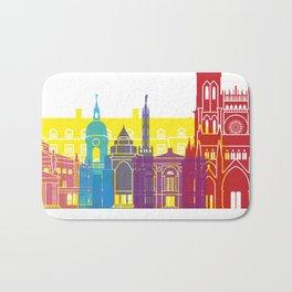 Amiens skyline pop Bath Mat