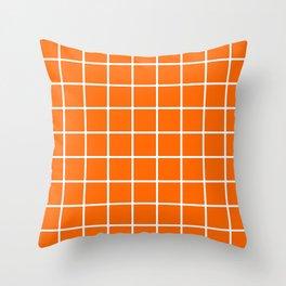 orange cube Throw Pillow
