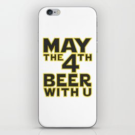 funny beer iPhone Skin