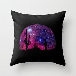 Noche caliente Throw Pillow